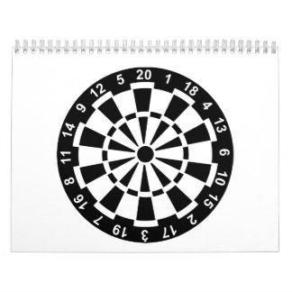 Tablero de dardos calendario