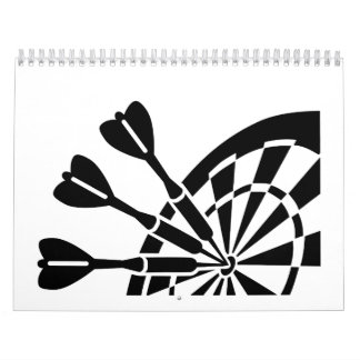 Tablero de dardos calendarios