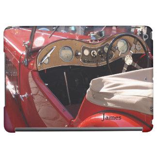 Tablero de instrumentos clásico rojo del coche