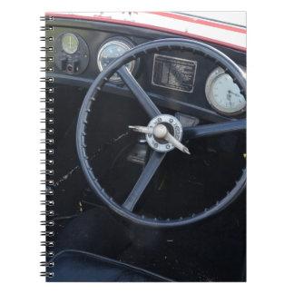Tablero de instrumentos de Austin siete del vintag Libreta Espiral