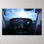 Tablero de instrumentos de Cessna 172 Poster