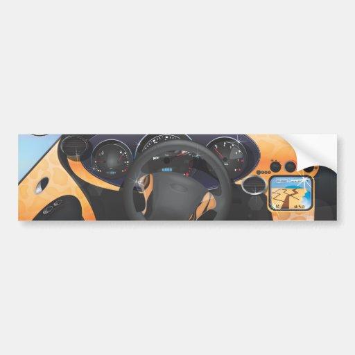 Tablero de instrumentos del coche de deportes pegatina de parachoque