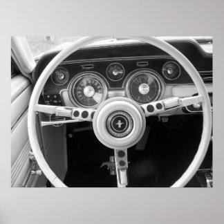 Tablero de instrumentos del coche del músculo del  póster