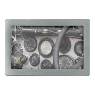 Tablero de instrumentos del coche deportivo hebillas cinturón rectangulares