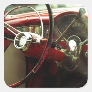 Tablero de instrumentos del vintage pegatina cuadrada