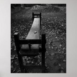 Tablero de Jogglin en blanco y negro Posters
