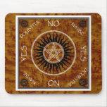 Tablero de la adivinación del Pentagram de Pentang Alfombrilla De Ratones