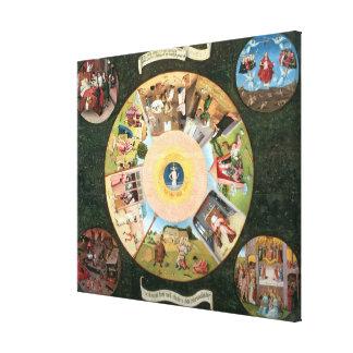 Tablero de la mesa de los siete pecados mortales lienzo envuelto para galerias