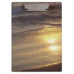 Tablero de la puesta del sol de la playa
