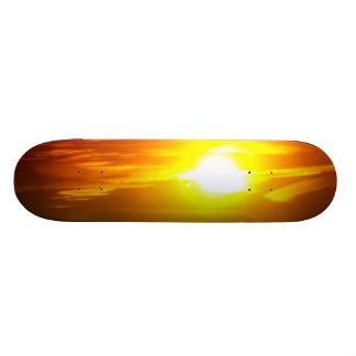 Tablero de la puesta del sol patines personalizados