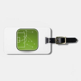 Tablero de las táctica del fútbol etiquetas para maletas