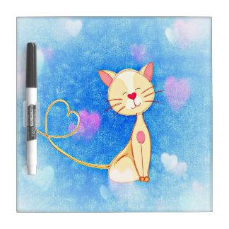 Tablero de los gatos del amor pizarras blancas de calidad