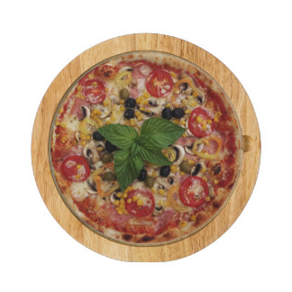Tablero de lujo del queso de Ventana de la pizza