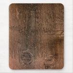 Tablero de madera alfombrillas de raton
