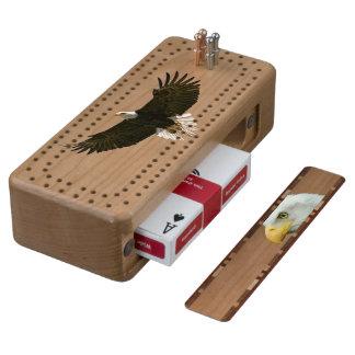Tablero de madera calvo de Eagle Cribbage Cribbage De Cerezo
