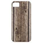 Tablero de madera rústico de la foto, resistido re iPhone 5 fundas