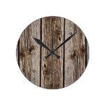 Tablero de madera rústico de la foto, resistido re relojes de pared