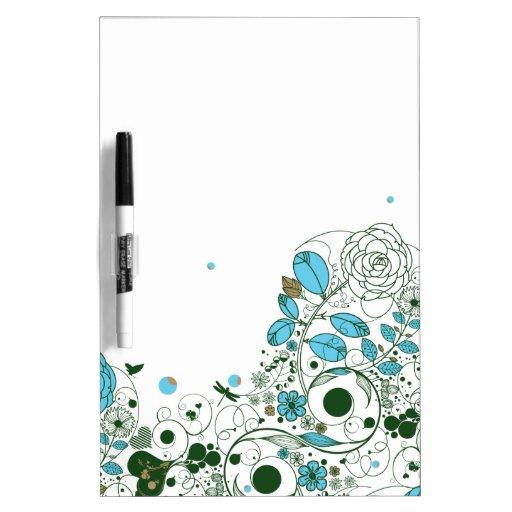 Tablero de mensajes del estilo de la primavera - 1 tableros blancos