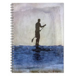 Tablero de paleta que practica surf, Copyright Kar Libreta