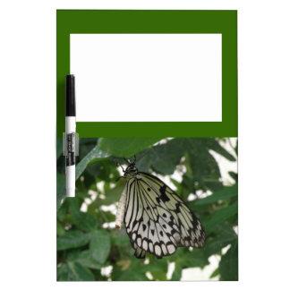 Tablero de papel tropical de la nota de la maripos pizarra