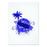 Tablero de resaca azul invitación 12,7 x 17,8 cm