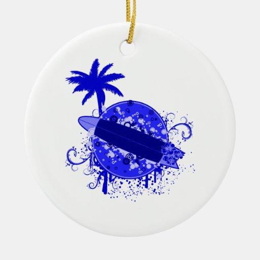 Tablero de resaca azul ornamentos de reyes