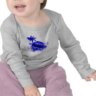 Tablero de resaca azul camisetas