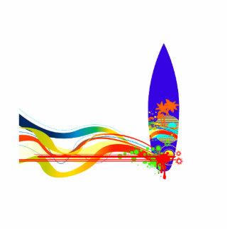 Tablero de resaca colorido escultura fotográfica