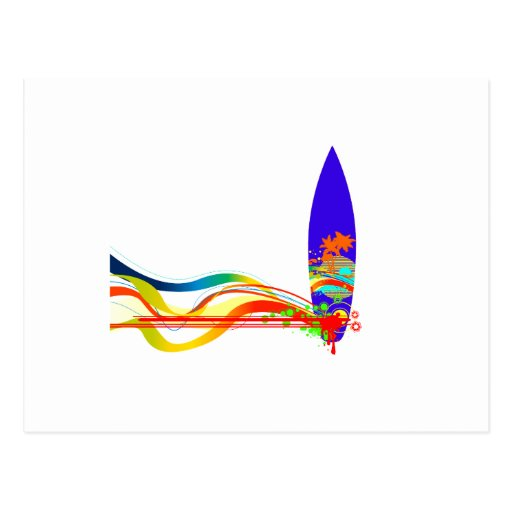 Tablero de resaca colorido postal
