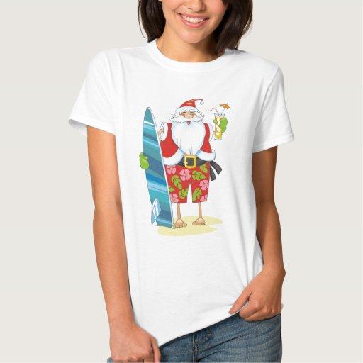 Tablero de resaca Santa con la bebida Playeras