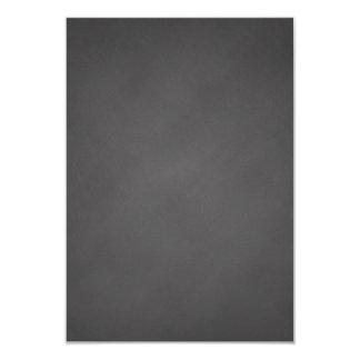 """Tablero de tiza gris del negro del fondo de la invitación 3.5"""" x 5"""""""