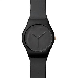 Tablero de tiza gris del negro del fondo de la reloj