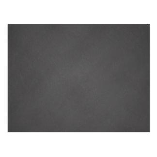 Tablero de tiza gris del negro del fondo de la tarjeta postal