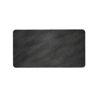 Tablero de tiza negro gris del fondo de la pizarra etiqueta de dirección