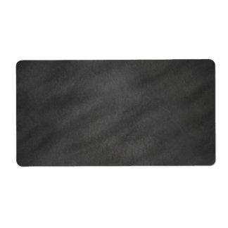 Tablero de tiza negro gris del fondo de la pizarra etiqueta de envío