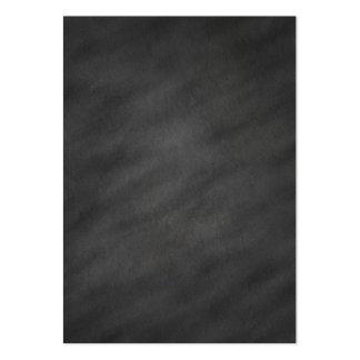 Tablero de tiza negro gris del fondo de la pizarra tarjetas de visita grandes
