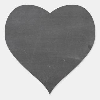 Tablero de tiza calcomanías corazones