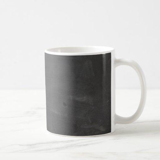Tablero de tiza taza de café