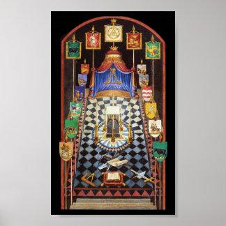 Tablero de trazado del arco real masónico - medio poster
