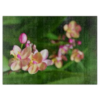 Tablero decorativo del corte del vidrio del Orchid Tabla Para Cortar