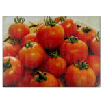 Tablero decorativo del corte del vidrio del tomate tablas de cortar