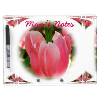 Tablero del borrado del tulipán y personalizar tablero blanco