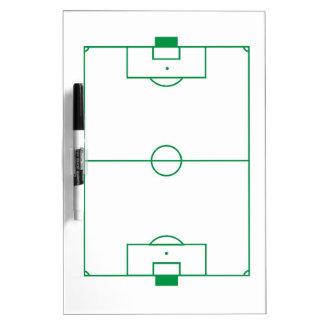 Tablero del campo de fútbol pizarras blancas de calidad