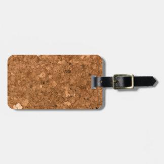 Tablero del corcho etiquetas para maletas