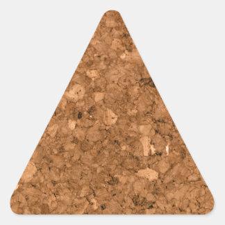 Tablero del corcho pegatina triangular