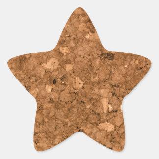 Tablero del corcho pegatina en forma de estrella
