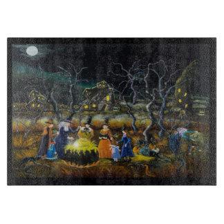Tablero del corte del vidrio de Halloween, brujas Tablas De Cortar