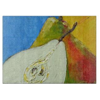 Tablero del corte del vidrio de las peras