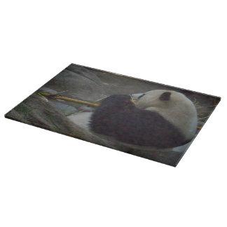 Tablero del corte del vidrio del oso de panda tabla de cortar