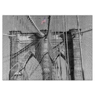 Tablero del corte del vidrio del puente de Brookly